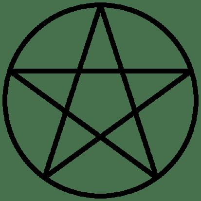 El pentáculo es uno de los símbolos de fe fundamentales reconocidos internacionalmente por la Wicca y utilizado en el Día Mundial del Paganismo. «Pentacle 2». Fuente Wikimedia Commons